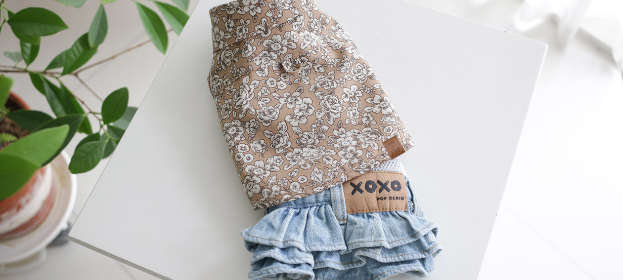 POP Denim + Vintage Floral Shirt